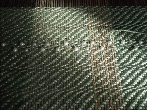 Weaving in Beads