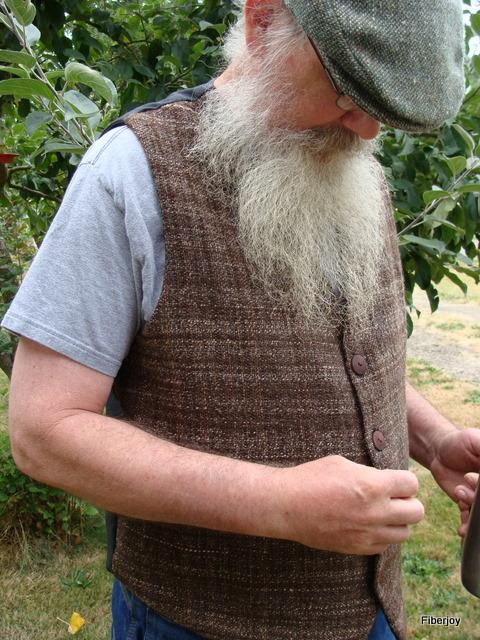 Ed's handspun, handwoven Vest